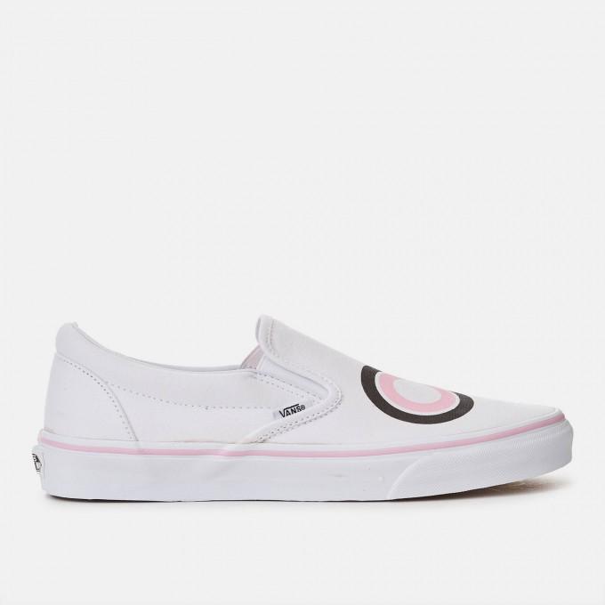 Womens Vans Slip Ons | Flamingo Vans Shoes | White Van Slip Ons