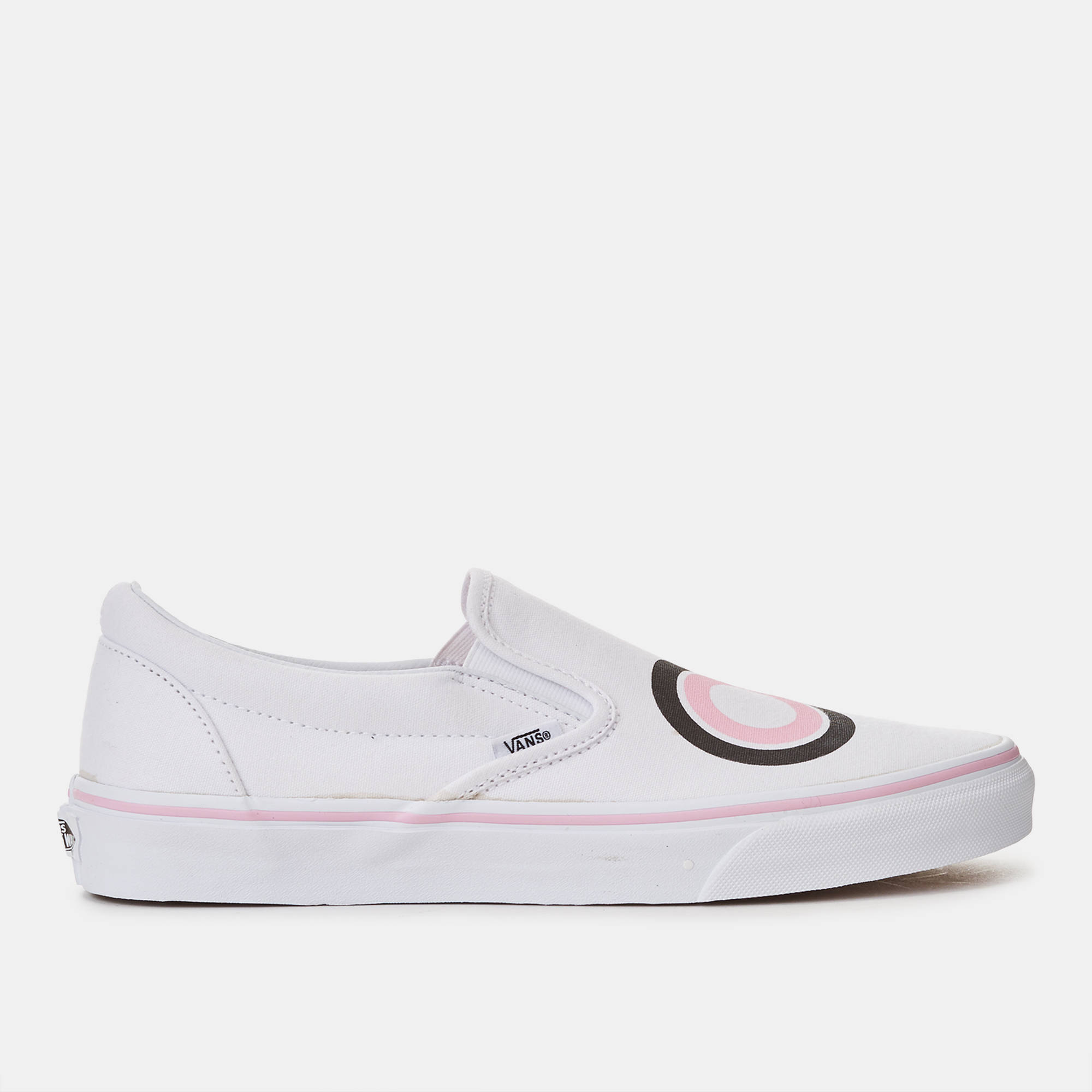 Womens Vans Slip Ons | Flamingo Vans Shoes | White Van Slip Ons