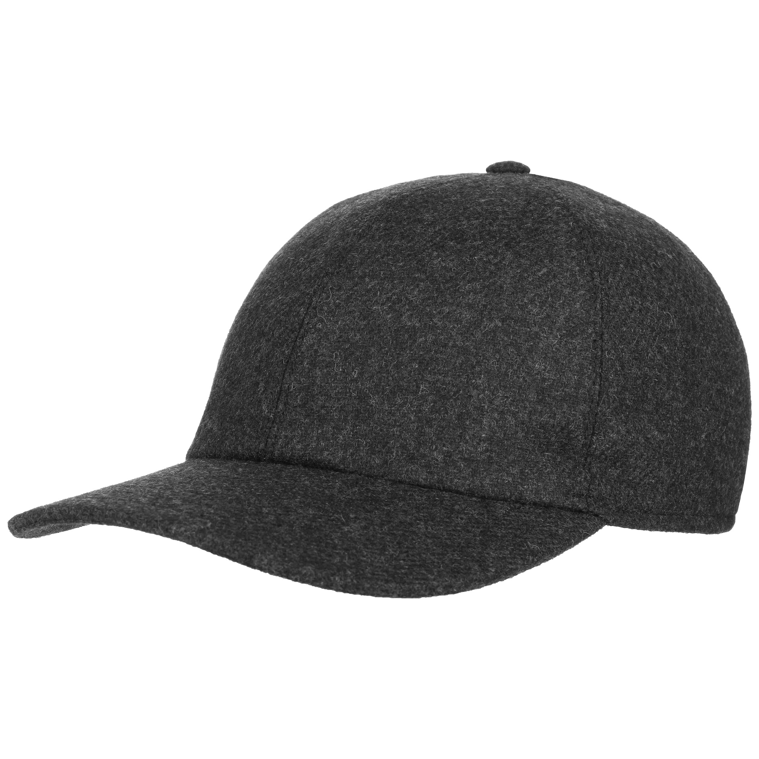 Wool Baseball Cap | Flannel Baseball Caps | Hats with Leather Strap