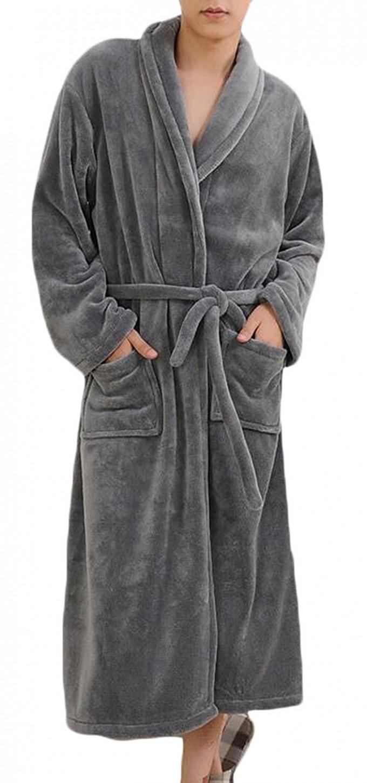 Zipper Robe   Plush Bathrobes   Floor Length Robe