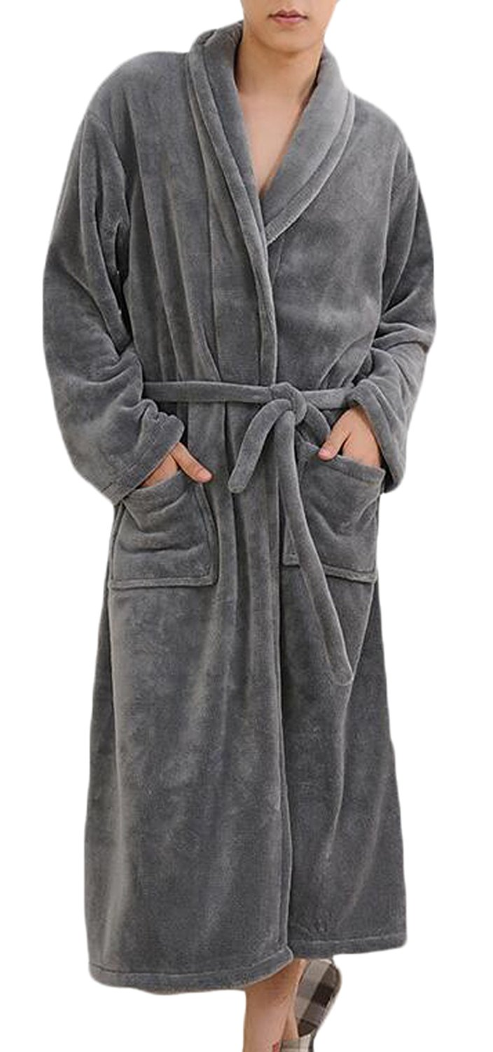 Zipper Robe | Plush Bathrobes | Floor Length Robe